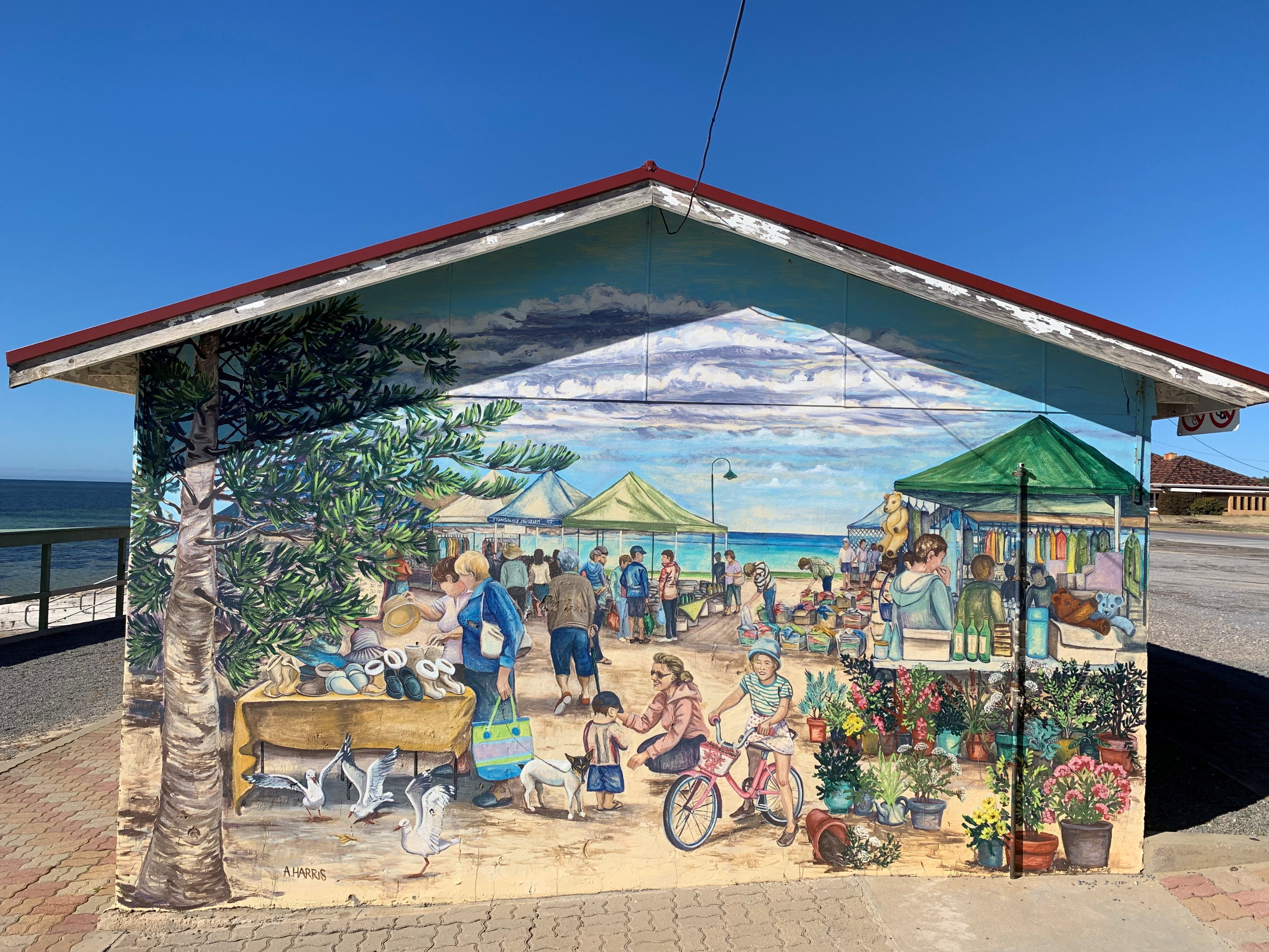 Stansbury Foreshore Murals - Accommodation Mt Buller