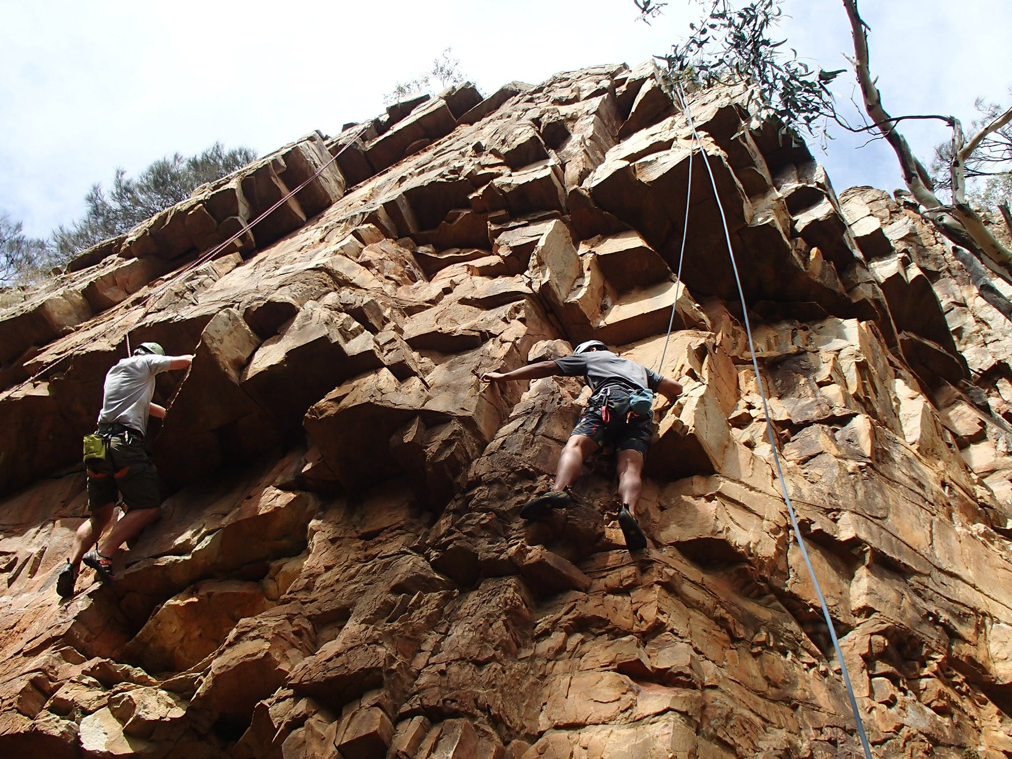 Rock Climbing in Morialta - Accommodation Mt Buller