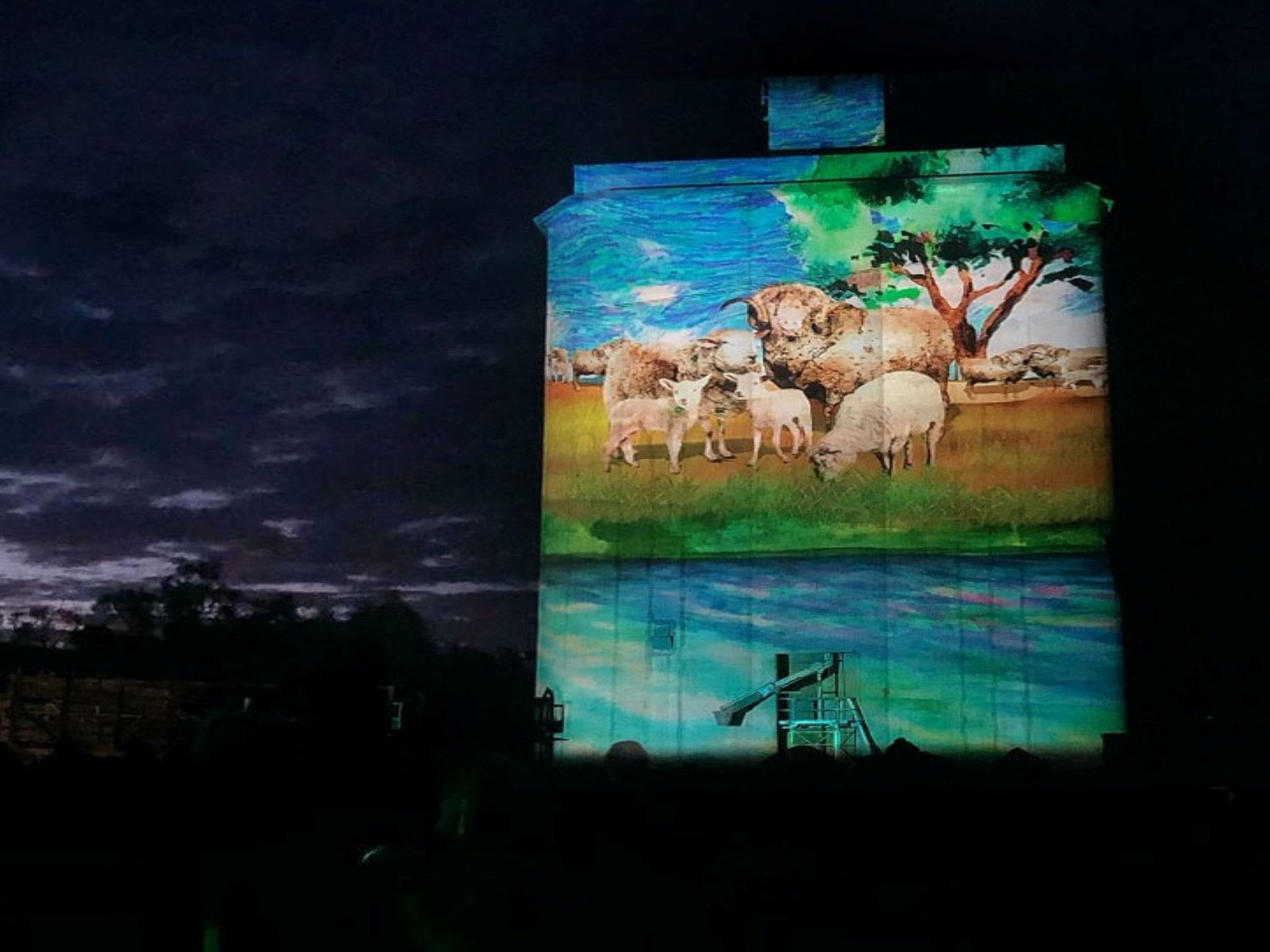 Quorn Silo Light Show - Accommodation Mt Buller