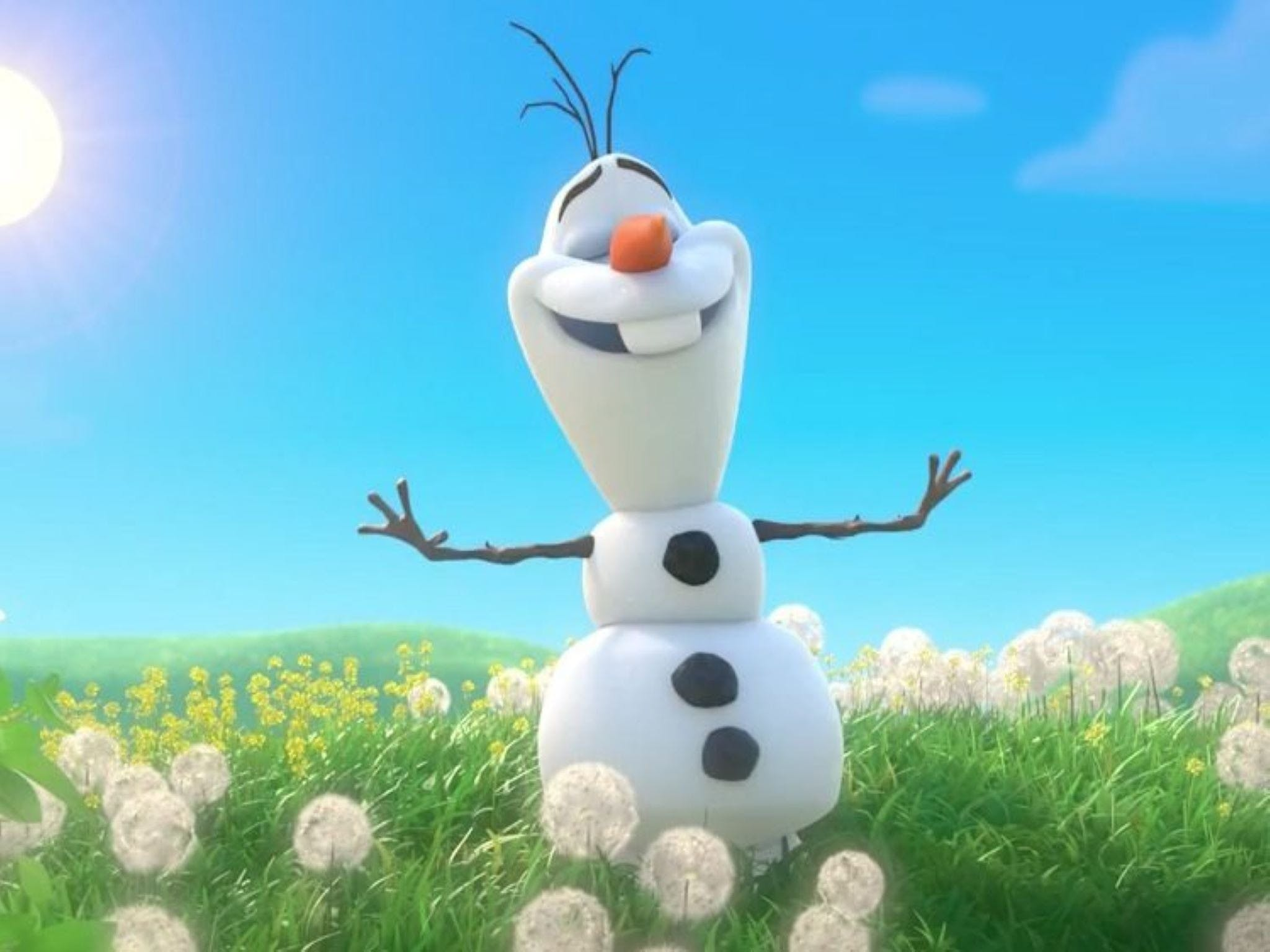 Meet Olaf from Frozen - Accommodation Mt Buller