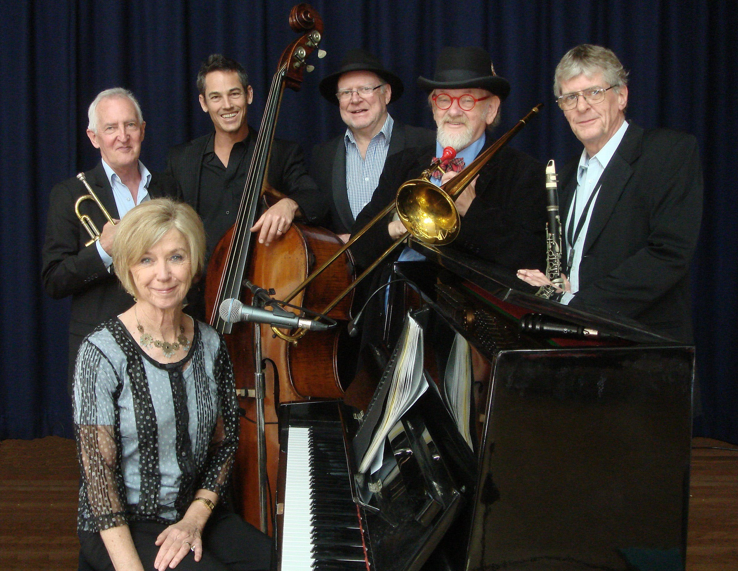 The Caxton Street Jazz Band in the Swigmore Hall at Robert Channon Wines - Accommodation Mt Buller
